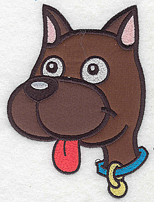 Embroidery Design: Devoted dog B double applique 5.51w X 4.15h