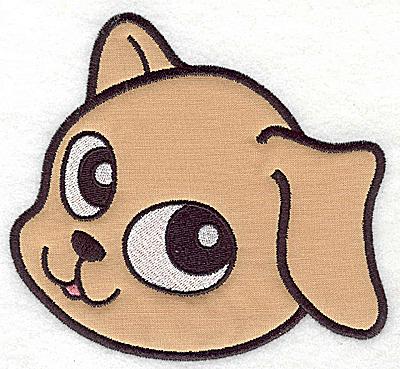 Embroidery Design: Devoted dog C applique 5.39w X 4.94h