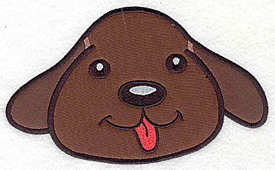 Embroidery Design: Devoted dog D double applique 6.96w X 4.22h