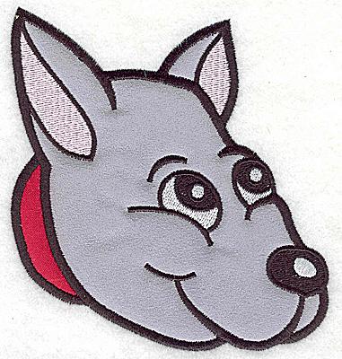 Embroidery Design: Devoted dog E double applique 4.57w X 4.88h