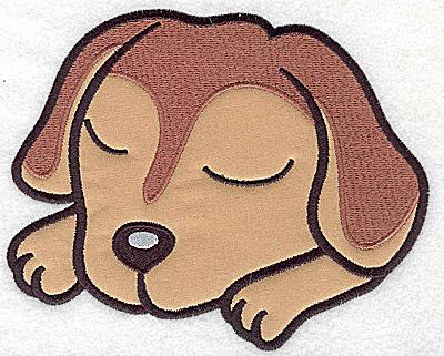 Embroidery Design: Devoted dog F applique 6.09w X 4.95h