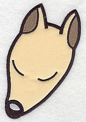 Embroidery Design: Devoted dog G applique 3.34w X 4.96h