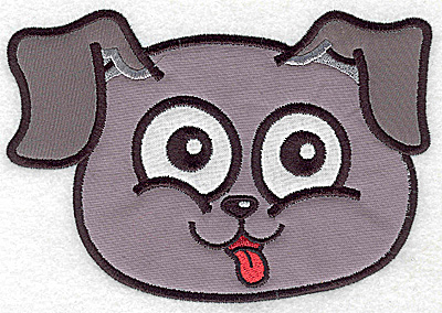 Embroidery Design: Devoted dog I double applique 6.24w X 4.37h