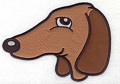 Embroidery Design: Devoted dog J double applique 6.03w X 4.46h