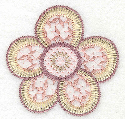 """Embroidery Design: Flower  2.98""""h x 3.04""""w"""