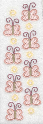 "Embroidery Design: Butterfly border  6.78""h x 2.11""w"