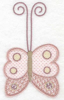 """Embroidery Design: Butterfly large  5.70""""h x 3.41""""w"""