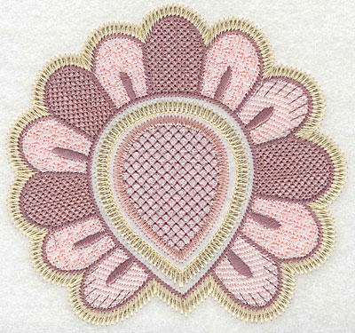 """Embroidery Design: Motif A large  4.99""""h x 5.24""""w"""