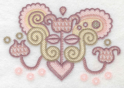 "Embroidery Design: Motif C small  4.13""h x 5.91""w"