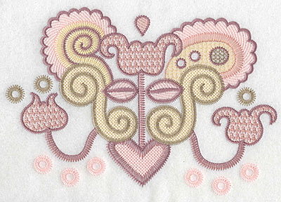 "Embroidery Design: Motif C large  6.20""h x 8.85""w"