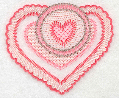 """Embroidery Design: Heart duo small  3.29""""h x 3.90""""w"""