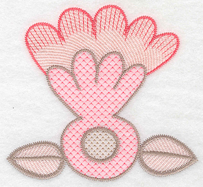 "Embroidery Design: Design A large  4.97""h x 5.35""w"