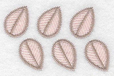 "Embroidery Design: Leaf design  2.19""h x 3.59""w"