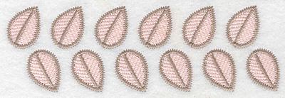"""Embroidery Design: Leaf border  2.19""""h x 6.94""""w"""