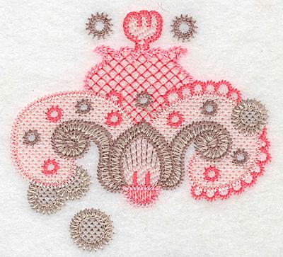 """Embroidery Design: Design B small  3.70""""h x 4.01""""w"""