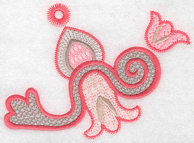 """Embroidery Design: Design D large  3.74""""h x 5.16""""w"""