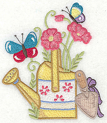 Embroidery Design: Watering Can C large 4.36w X 4.96h