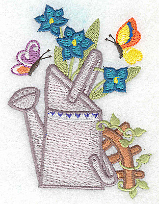Embroidery Design: Watering Can G small 2.93w X 3.84h