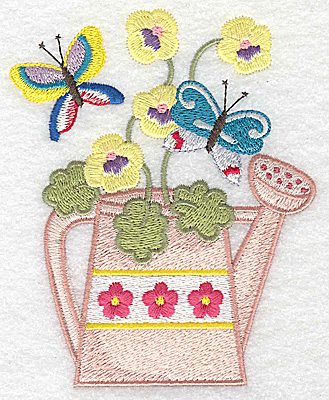 Embroidery Design: Watering Can H large 3.99w X 4.92h