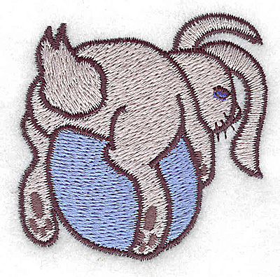 Embroidery Design: Bunny on egg small 2.36w X 2.30h