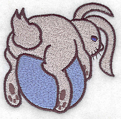 Embroidery Design: Bunny on egg large 3.06w X 2.99h