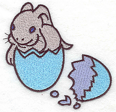 Embroidery Design: Bunny in egg shell large 4.14w X 4.00h