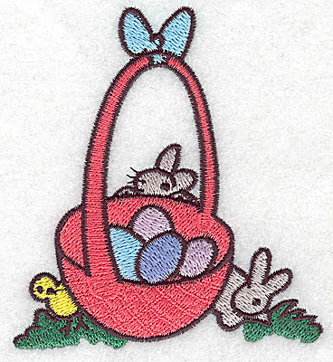 Embroidery Design: Easter Basket small 3.47w X 3.89h