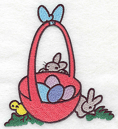Embroidery Design: Easter Basket large 4.44w X 4.98h