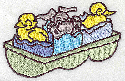 Embroidery Design: Easter egg carton large 4.87w X 3.24h