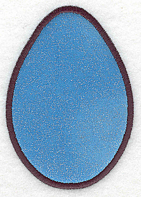 Embroidery Design: Easter egg applique  2.85w X 4.03h