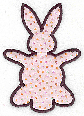 Embroidery Design: Bunny applique 3.80w X 5.43h