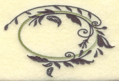 Embroidery Design: Oval vines A small 3.87w X 2.48h
