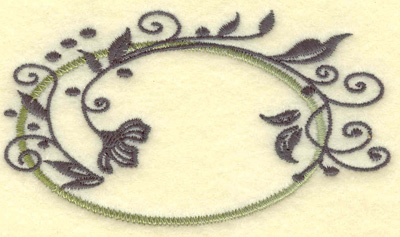 Embroidery Design: Oval vines B small 3.83w X 2.16h