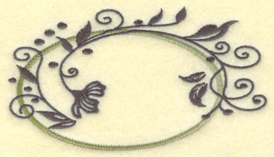 Embroidery Design: Oval vines B large 4.94w X 2.79h