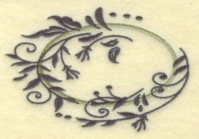 Embroidery Design: Oval vines C small 3.85w X 2.60h