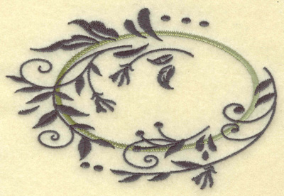 Embroidery Design: Oval vines C large 4.93w X 3.33h