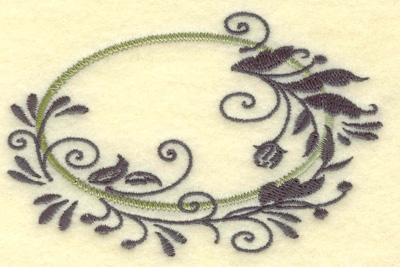 Embroidery Design: Oval Vines E small 3.84w X 2.47h