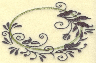 Embroidery Design: Oval Vines E large 4.91w X 3.16h