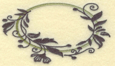 Embroidery Design: Oval Vines F small 3.84w X 2.25h