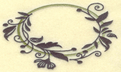 Embroidery Design: Oval Vines F large 4.95w X 2.90h