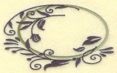 Embroidery Design: Oval Vines G small 3.85w X 2.36h