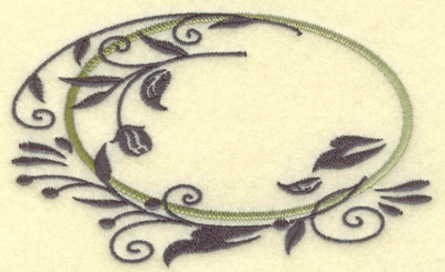 Embroidery Design: Oval Vines G large 4.97w X 3.05h