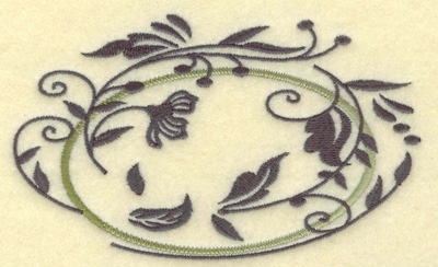 Embroidery Design: Oval Vines H large 4.97w X 3.06h