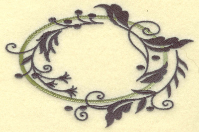 Embroidery Design: Oval Vines I large 4.97w X 3.28h