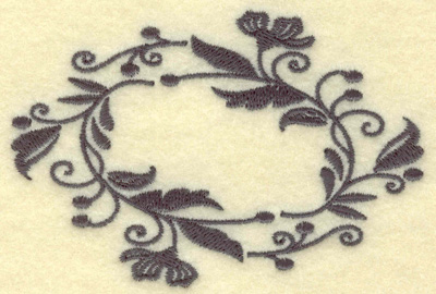 Embroidery Design: Oval Vines F single color 3.86w X 2.63h