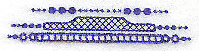 Embroidery Design: elegant border 2 small 3.79w X 0.72h