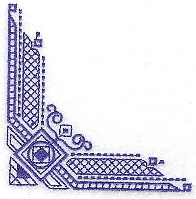 Embroidery Design: Elegant corner 3 small 3.89w X 3.89h