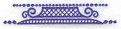 Embroidery Design: Elegant border 4 small 3.85w X 0.70h