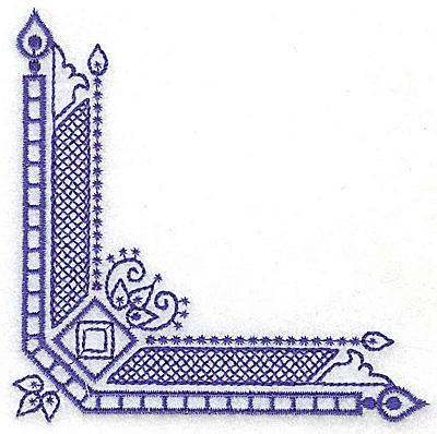 Embroidery Design: Elegant corner 5 small 3.85w X 3.86h