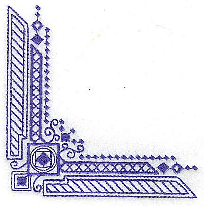 Embroidery Design: Elegant corner 6 small 3.88w X 3.88h